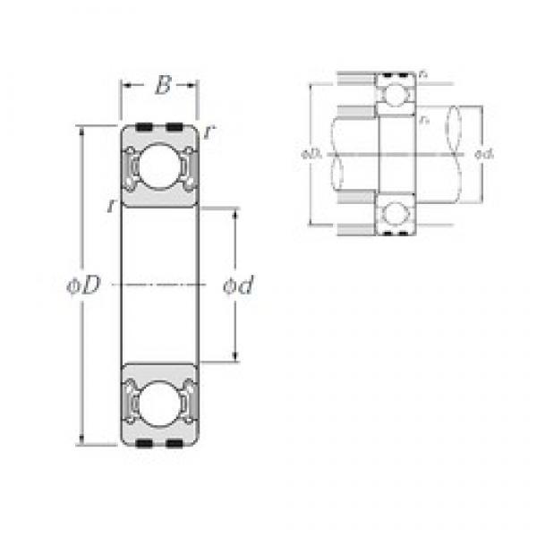 15 mm x 42 mm x 13 mm  NTN EC-6302LLB deep groove ball bearings #3 image