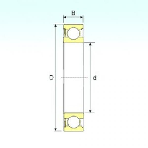 15 mm x 42 mm x 13 mm  ISB 6302-RS deep groove ball bearings #3 image