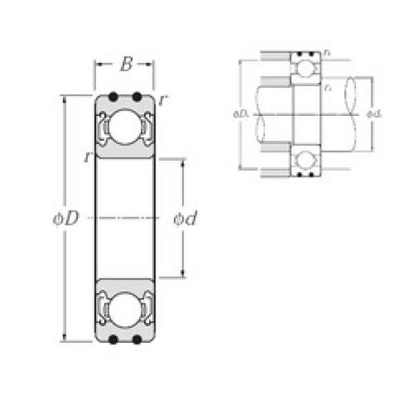 15 mm x 42 mm x 13 mm  NTN AC-6302ZZ deep groove ball bearings #3 image