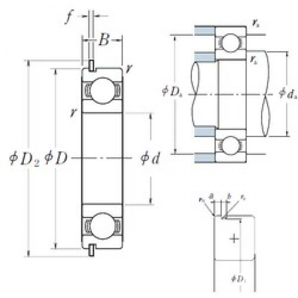 80 mm x 140 mm x 26 mm  NSK 6216NR deep groove ball bearings #3 image