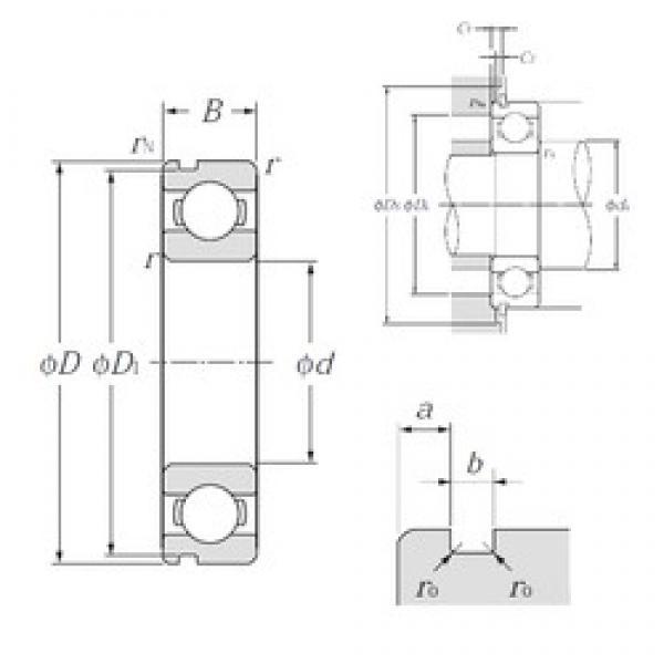 120 mm x 180 mm x 28 mm  NTN 6024N deep groove ball bearings #3 image
