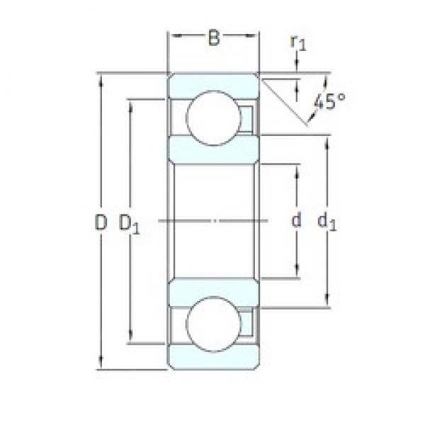 15 mm x 42 mm x 13 mm  SKF 6302/HR22T2 deep groove ball bearings #3 image