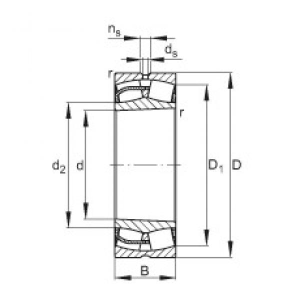 190 mm x 340 mm x 92 mm  FAG 22238-E1-K spherical roller bearings #3 image
