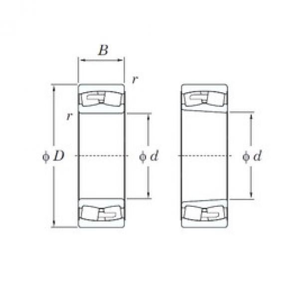 190 mm x 340 mm x 92 mm  KOYO 22238RHA spherical roller bearings #3 image