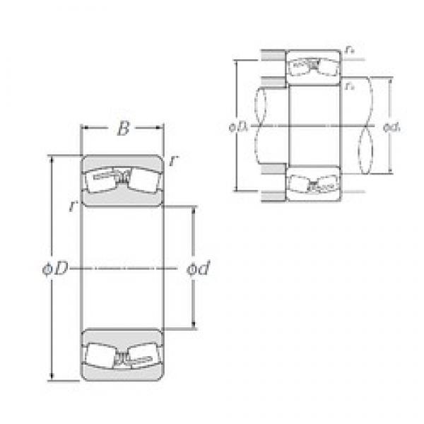 190 mm x 340 mm x 92 mm  NTN 22238B spherical roller bearings #3 image