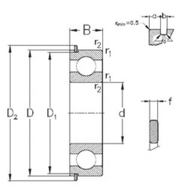 50 mm x 110 mm x 27 mm  NKE 6310-NR deep groove ball bearings #3 image