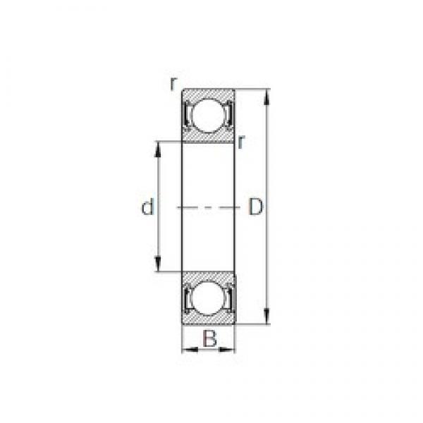 45 mm x 58 mm x 7 mm  CYSD 6809-2RZ deep groove ball bearings #3 image
