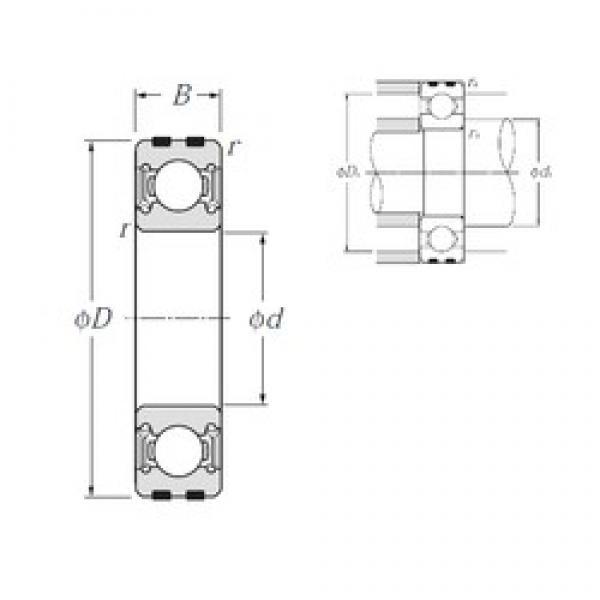 15 mm x 42 mm x 13 mm  NTN EC-6302LLU deep groove ball bearings #3 image