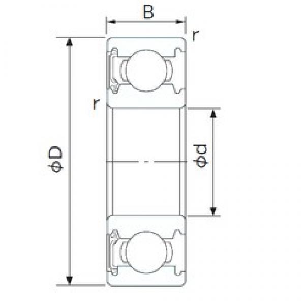 50 mm x 110 mm x 27 mm  NACHI 6310NSE deep groove ball bearings #3 image