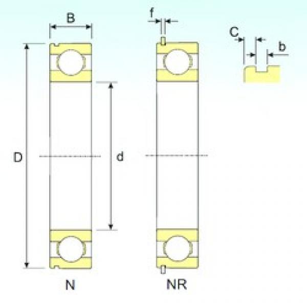120 mm x 180 mm x 28 mm  ISB 6024 NR deep groove ball bearings #3 image
