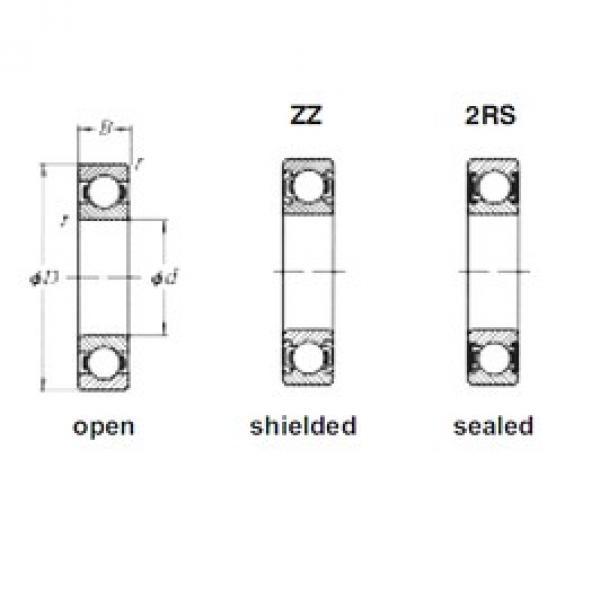 15 mm x 42 mm x 13 mm  Loyal 6302ZZ deep groove ball bearings #3 image