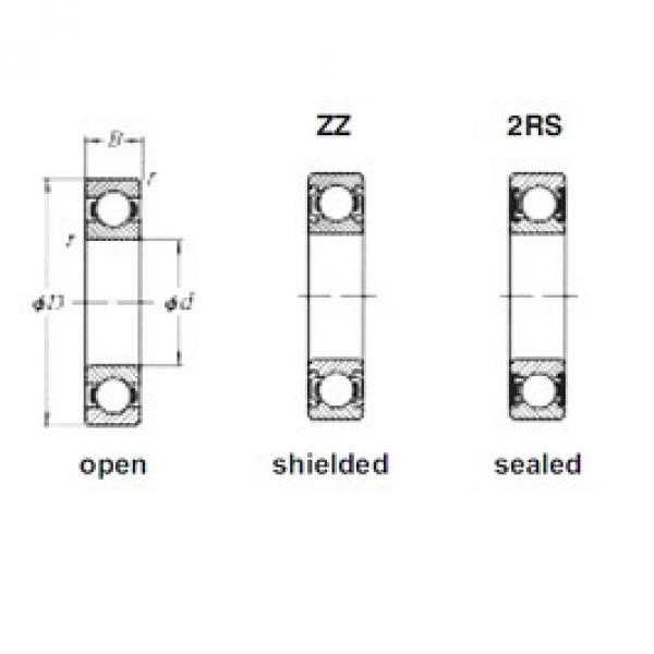 45 mm x 58 mm x 7 mm  Loyal 61809ZZ deep groove ball bearings #3 image