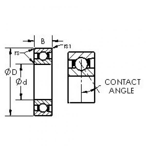 AST 7234AC angular contact ball bearings #3 image