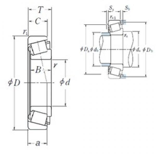 30 mm x 72 mm x 19 mm  NSK HR30306DJ tapered roller bearings #3 image