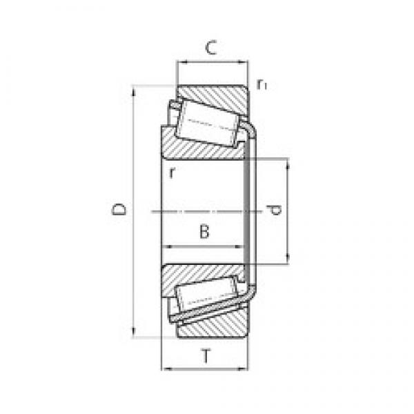 30 mm x 72 mm x 19 mm  NSK 30306CN tapered roller bearings #3 image