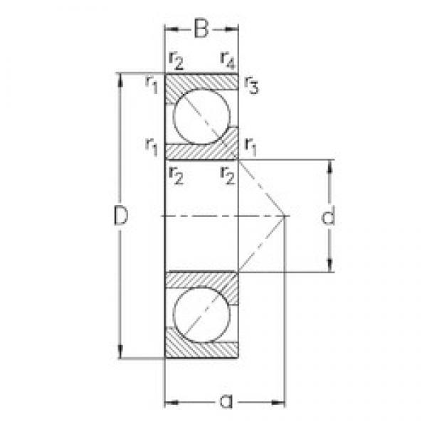 15 mm x 42 mm x 13 mm  NKE 7302-BE-TVP angular contact ball bearings #3 image