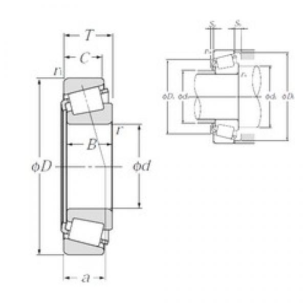 30 mm x 72 mm x 19 mm  NTN 4T-30306CA tapered roller bearings #3 image