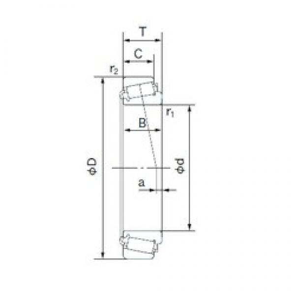 55 mm x 120 mm x 29 mm  NACHI E30311DJ tapered roller bearings #3 image