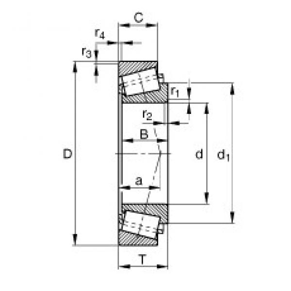 30 mm x 72 mm x 19 mm  FAG 31306-A tapered roller bearings #3 image