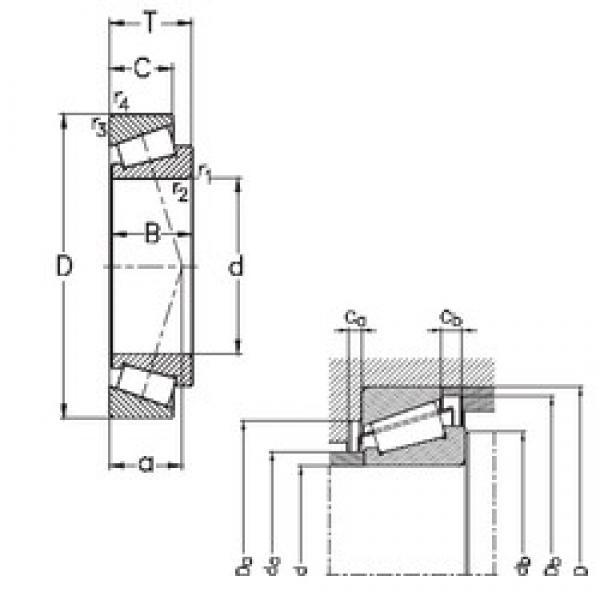 30 mm x 72 mm x 19 mm  NKE 31306 tapered roller bearings #3 image