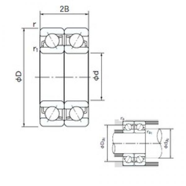 15 mm x 42 mm x 13 mm  NACHI 7302DF angular contact ball bearings #3 image