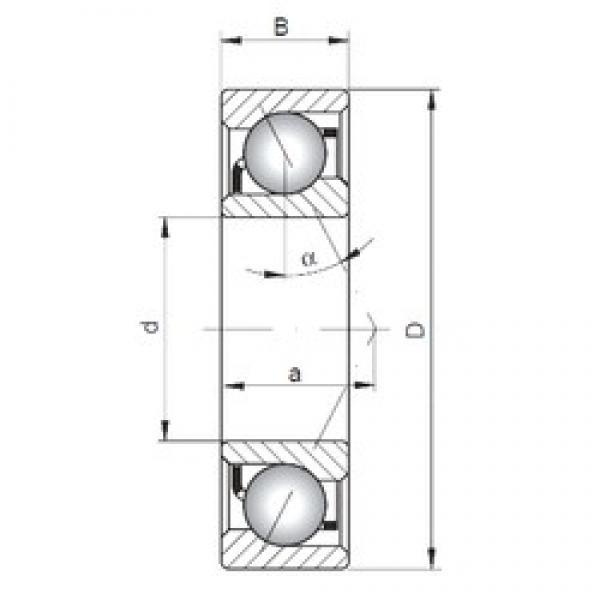 120 mm x 180 mm x 28 mm  Loyal 7024 A angular contact ball bearings #3 image