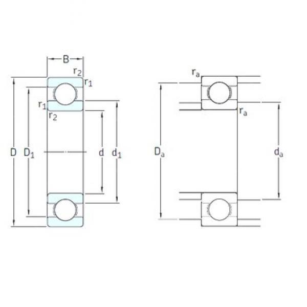 65 mm x 120 mm x 23 mm  SKF 6213-2RS1/HC5C3WT deep groove ball bearings #3 image