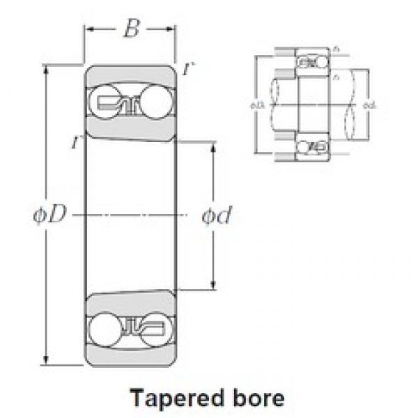 50 mm x 110 mm x 27 mm  NTN 1310SK self aligning ball bearings #3 image