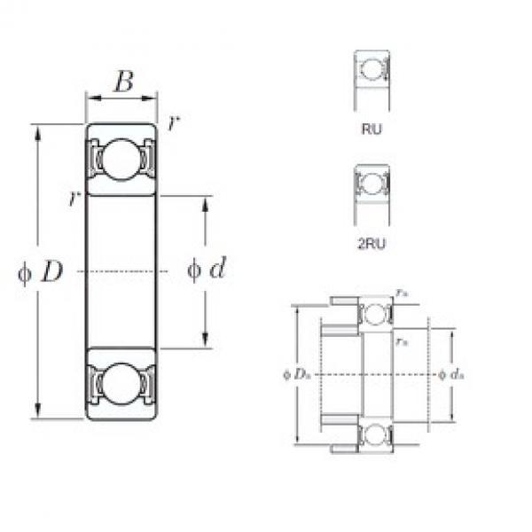 45 mm x 58 mm x 7 mm  KOYO 6809-2RU deep groove ball bearings #3 image