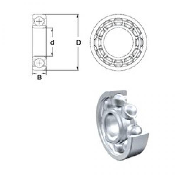 15 mm x 42 mm x 13 mm  ZEN 6302 deep groove ball bearings #3 image