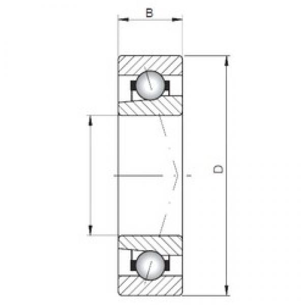 Loyal 71809 CTBP4 angular contact ball bearings #3 image