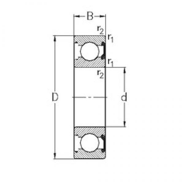 45 mm x 58 mm x 7 mm  NKE 61809-2RSR deep groove ball bearings #3 image