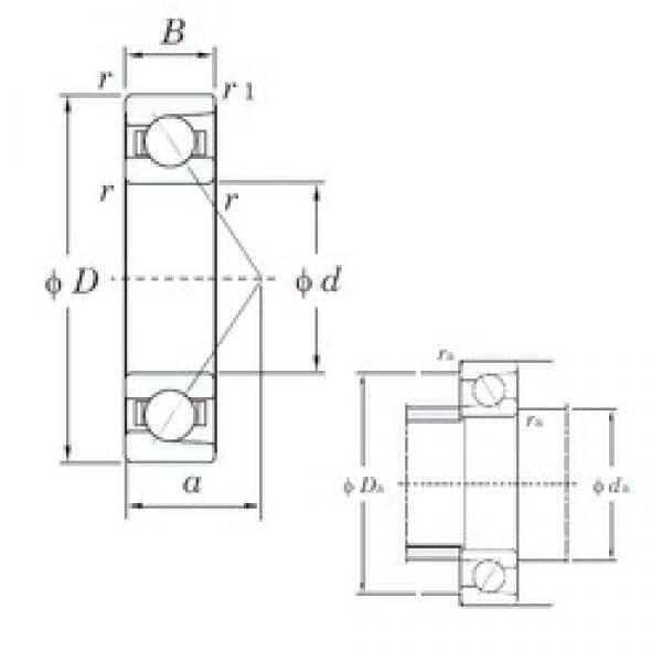 120 mm x 180 mm x 28 mm  KOYO HAR024C angular contact ball bearings #3 image
