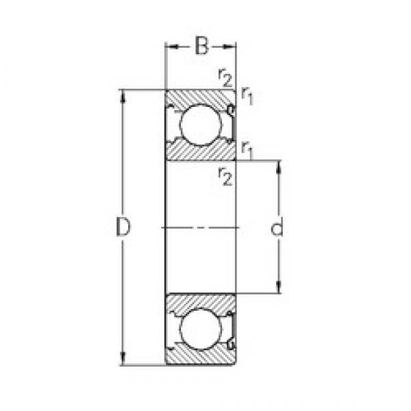 15 mm x 42 mm x 13 mm  NKE 6302-Z deep groove ball bearings #3 image
