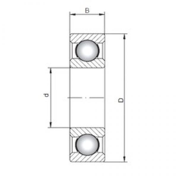 170 mm x 310 mm x 52 mm  Loyal 6234 deep groove ball bearings #3 image