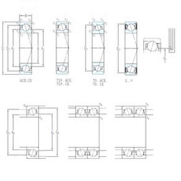 120 mm x 180 mm x 28 mm  SKF S7024 CB/P4A angular contact ball bearings #3 image