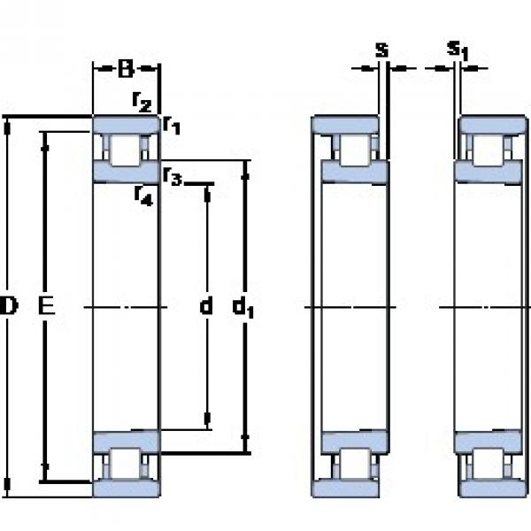120 mm x 180 mm x 28 mm  SKF N 1024 KTNHA/SP cylindrical roller bearings #3 image