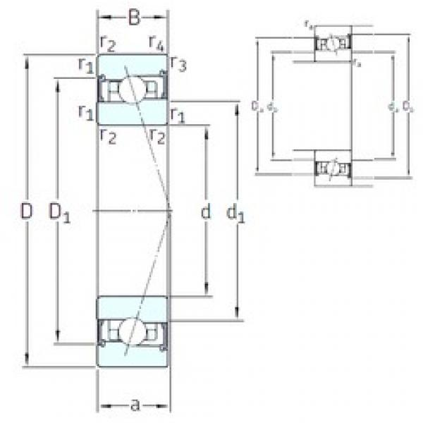 120 mm x 180 mm x 28 mm  SNFA HX120 /S/NS 7CE3 angular contact ball bearings #3 image