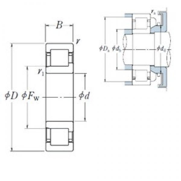 120 mm x 180 mm x 28 mm  NSK NJ1024 cylindrical roller bearings #3 image