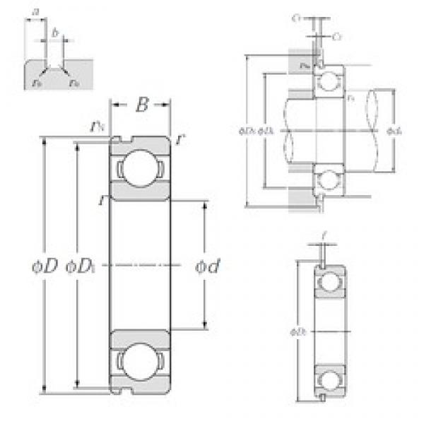 45 mm x 58 mm x 7 mm  NTN 6809NR deep groove ball bearings #3 image