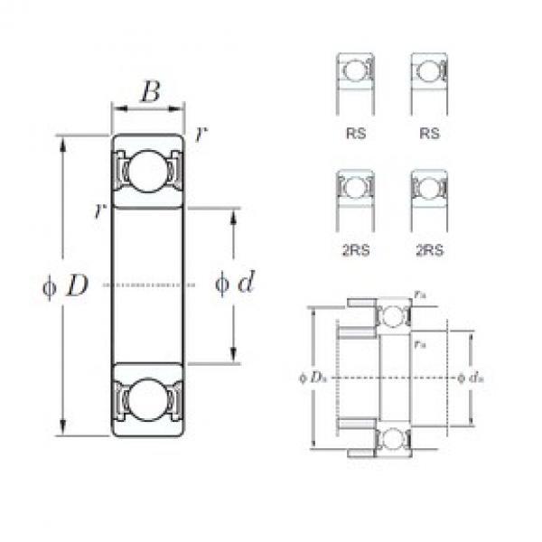 80 mm x 140 mm x 26 mm  KOYO 6216-2RS deep groove ball bearings #3 image