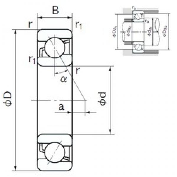 170 mm x 310 mm x 52 mm  NACHI 7234B angular contact ball bearings #3 image