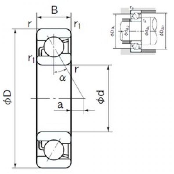 170 mm x 310 mm x 52 mm  NACHI 7234C angular contact ball bearings #3 image