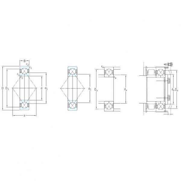 65 mm x 120 mm x 23 mm  SKF QJ213N2MA angular contact ball bearings #3 image