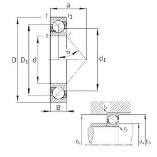 170 mm x 310 mm x 52 mm  FAG 7234-B-MP angular contact ball bearings #3 image