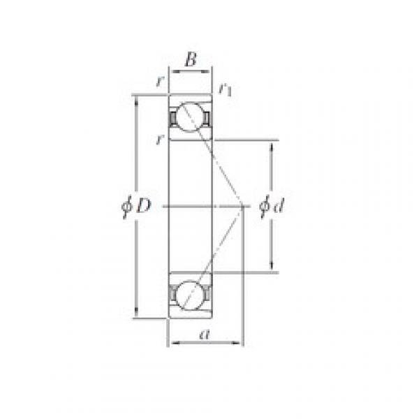 170 mm x 310 mm x 52 mm  KOYO 7234B angular contact ball bearings #3 image