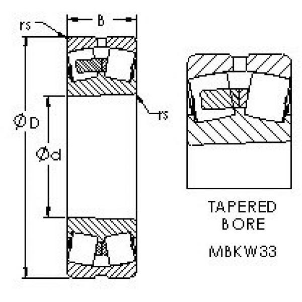 AST 21310MBKW33 spherical roller bearings #3 image
