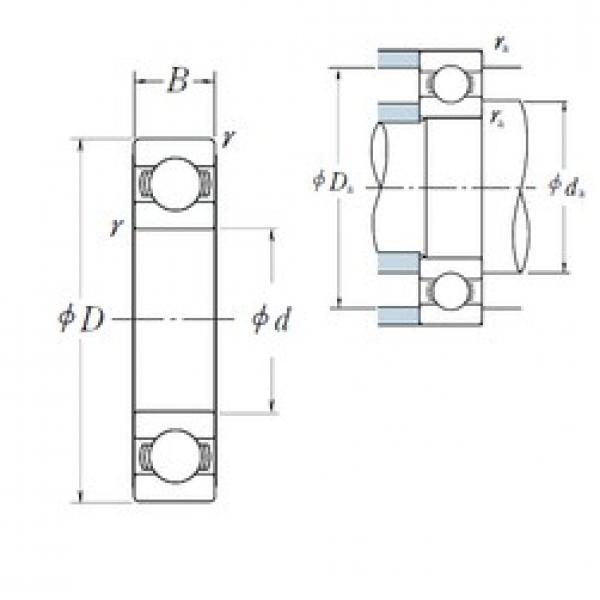 170 mm x 310 mm x 52 mm  NSK 6234 deep groove ball bearings #3 image