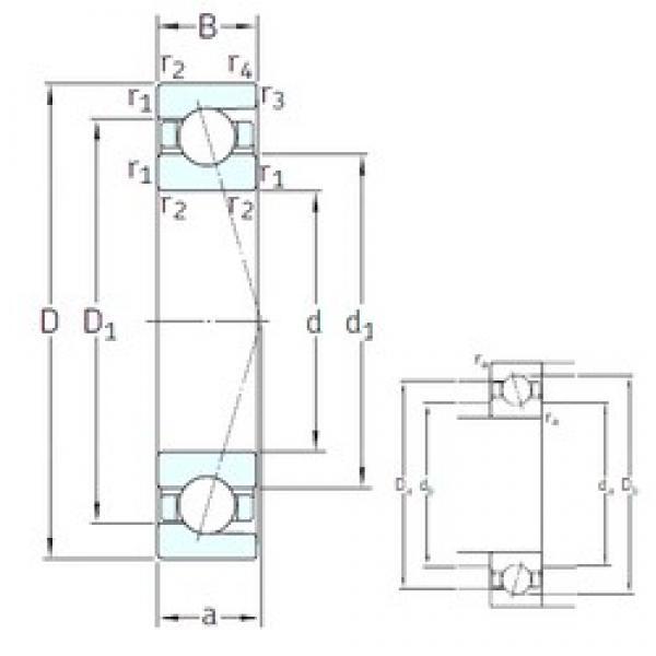 45 mm x 58 mm x 7 mm  SNFA SEA45 /NS 7CE1 angular contact ball bearings #3 image