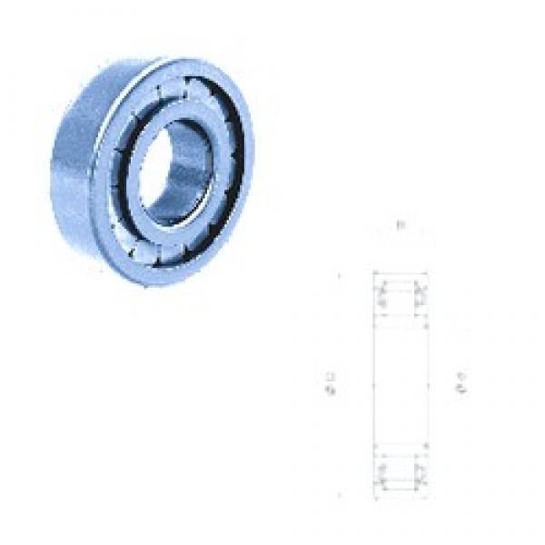 50 mm x 110 mm x 27 mm  Fersa NU310F cylindrical roller bearings #3 image